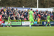 Wheatly printers Phillip Ford Ad board during the EFL Sky Bet League 2 match between Forest Green Rovers and Walsall at the New Lawn, Forest Green, United Kingdom on 8 February 2020.