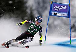 28.12.2013, Hochstein, Lienz, AUT, FIS Weltcup Ski Alpin, Damen, Riesenslalom 1. Durchgang, im Bild Mikaela Shiffrin (USA) // Mikaela Shiffrin of (USA) during ladies Giant Slalom 1st run of FIS Ski Alpine Worldcup at Hochstein in Lienz, Austria on 2013/12/28. EXPA Pictures © 2013, PhotoCredit: EXPA/ Oskar Höher