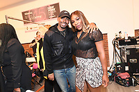 Serena Williams backstage at the Klarna STYLE360 NYFW Hosts S by Serena Fashion Show