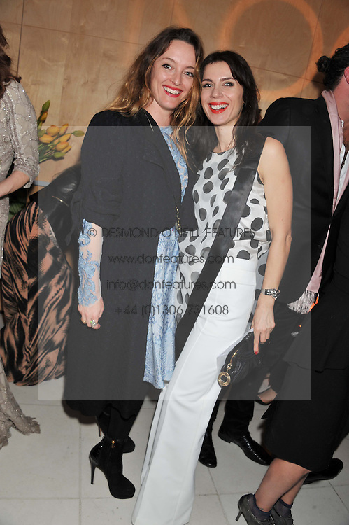 Left to right, ALICE TEMPERLEY and LARA BOHINC at the Rodial Beautiful Awards 2013 held at St Martin's Lane Hotel, St.Martin's Lane, London on 19th March 2013.