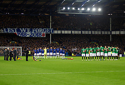 Everton and Brighton and Hove Albion during a remembrance minutes silence - Mandatory by-line: Jack Phillips/JMP - 03/11/2018 - FOOTBALL - Goodison Park - Liverpool, England - Everton v Brighton and Hove Albion - English Premier League