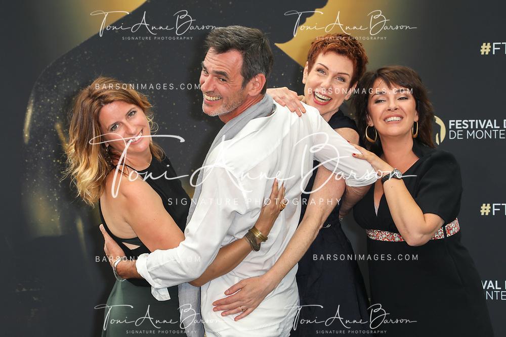 "MONTE-CARLO, MONACO - JUNE 18:  (L-R) Anne Decis, Jerome Bertin, Marie Reache and Stephanie Pareja attend ""Plus Belle La Vie"" photocall on June 18, 2017 at the Grimaldi Forum in Monte-Carlo, Monaco.  (Photo by Tony Barson/FilmMagic)"