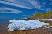 Spring ice on Lake Superior<br />Lake Superior Provincial Park<br />Ontario<br />Canada