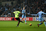 Peterborough United forward Ivan Toney (17) scores his goal during the EFL Sky Bet League 1 match between Coventry City and Peterborough United at the Ricoh Arena, Coventry, England on 23 November 2018.