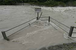 59754190 <br /> Floods at Cable bridge Munich, Germany, June 3, 2013 .UK ONLY, June 3, 2013 .UK ONLY