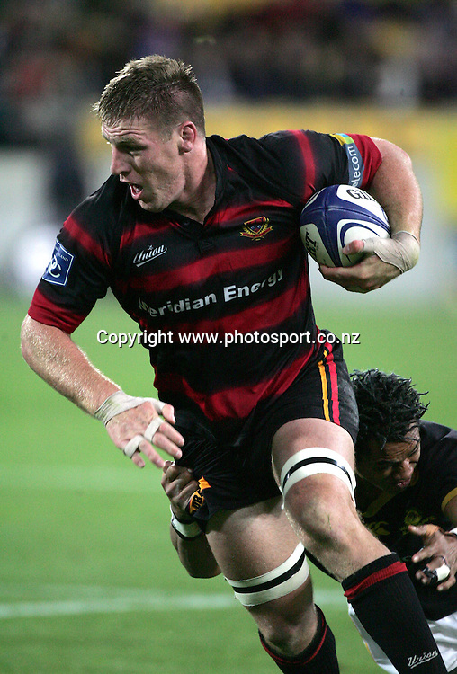 Brad Thorn in action during the NPC Div 1 Final, Saturday 24 October 2004,Westpac Stadium, Wellington, New Zealand. Canterbury defeated Wellington 40-27.<br />