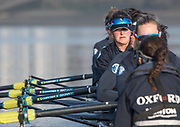 Putney, London,  Tideway Week, Championship Course. River Thames, <br /> <br /> Tuesday  28/03/2017<br /> [Mandatory Credit; Credit: Peter Spurrier/Intersport Images.com ]<br />  <br /> <br /> OUWBC. 6: Chloe Laverack – USA,
