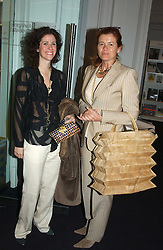 Left to right, MOLLIE DENT-BROCKLEHURST and LADY FOSTER at the opening of the second annual Photo-London exhibition at The Royal Academy, Burlington Gardens, London on 18th May 2005.<br /><br />NON EXCLUSIVE - WORLD RIGHTS