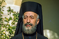 Archbishop Makarios, born 13 August 1913 -  died 3 August 1977, was born Mihail Christodoulou Mouskos, elected Archbishop of Cyprus 18 September 1950. He was elected the first president of Cyprus serving from 16 August 1960  until 15 July 1974. This photo was taken in February 1971. 197102000099AM4..Copyright Image from Victor Patterson, 54 Dorchester Park, Belfast, UK, BT9 6RJ..Tel: +44 28 9066 1296.Mob: +44 7802 353836.Voicemail +44 20 8816 7153.Skype: victorpattersonbelfast.Email: victorpatterson@mac.com.Email: victorpatterson@ireland.com (back-up)..IMPORTANT: If you wish to use this image or any other of my images please go to www.victorpatterson.com and click on the Terms & Conditions. Then contact me by email or phone with the reference number(s) of the image(s) concerned.