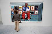 "Italian Pavillion. Paintings by Cheri Samba, Congo. ""Aussi... au Plafond"" 2002"