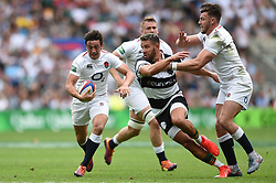 Alex Mitchell of the England XV goes on the attack - Mandatory byline: Patrick Khachfe/JMP - 07966 386802 - 02/06/2019 - RUGBY UNION - Twickenham Stadium - London, England - England XV v Barbarians - Quilter Cup International