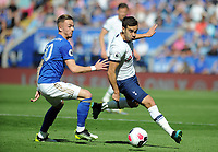 Football - 2019 / 2020 Premier League - Leicester City vs. Tottenham Hotspur<br /> <br /> Harry Winks of Tottenham tussles with James Maddison of Leicester, at The King Power Stadium.<br /> <br /> COLORSPORT/ANDREW COWIE