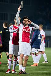 (L-R) Siem de Jong of Ajax, Klaas Jan Huntelaar of Ajax during the Dutch Eredivisie match between PEC Zwolle and Ajax Amsterdam at the MAC3Park stadium on February 18, 2018 in Zwolle, The Netherlands