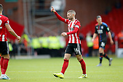 Ollie Norwood of Sheffield United during the Premier League match between Sheffield United and Crystal Palace at Bramall Lane, Sheffield, England on 18 August 2019.