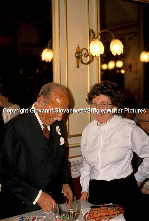 Valentino Bompiani, Maria Corti<br /> <br /> <br /> 25/09/2006<br /> Copyright Giovanni Giovannetti/Effigie/Writer Pictures<br /> NO ITALY, NO AGENCY SALES
