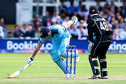 Ben Stokes of England runs a quick single - Mandatory by-line: Robbie Stephenson/JMP - 14/07/2019 - CRICKET - Lords - London, England - England v New Zealand - ICC Cricket World Cup 2019 - Final