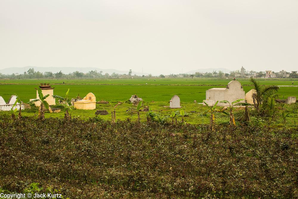 04 APRIL 2012 - HA LONG, VIETNAM:   A family cemetery in rural northern Vietnam near the city of Ha Long.   PHOTO BY JACK KURTZ