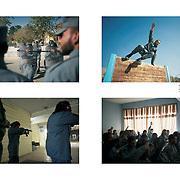 "Tearsheet of ""Afghanistan: Kabul Police Academy"" published in Courrier Internacional"