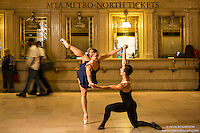Grand Central Station Dance As Art- the New York City Photography Project with Ballet Dancers Jaclyn Wheatley and Luck Muscat