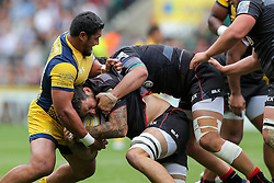 Alafoti Faosiliva of Worcester Warriors in action - Rogan Thomson/JMP - 03/09/2016 - RUGBY UNION - Twickenham Stadium - London, England - Saracens v Worcester Warriors - Aviva Premiership London Double Header.