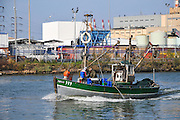 Fishing boat at Haifa, Kishon harbour, Israel