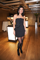 Former Miss Ireland JOANNE BLACK at a dinner hosted by jewellers Damiani at The Connaught Hotel, London on 3rd February 2010.
