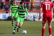 Forest Green Rovers Chris Clements(22) on the ball during the EFL Sky Bet League 2 match between Accrington Stanley and Forest Green Rovers at the Wham Stadium, Accrington, England on 17 March 2018. Picture by Shane Healey.