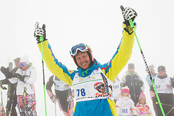 Andrej Jerman during last race of Slovenian best downhill skier when he finished his professional alpine ski career on April 6, 2013 in Krvavec Ski resort, Slovenia. (Photo By Vid Ponikvar / Sportida)