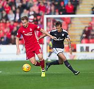August 19th 2017, Pittodrie Stadium, Aberdeen, Scotland;  Scottish Premiership football, Aberdeen versus Dundee; Aberdeen's Greg Stewart and Dundee's Danny Williams