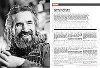 Portrait of canoe guide John Ruskey for Canoe & Kayak magazine