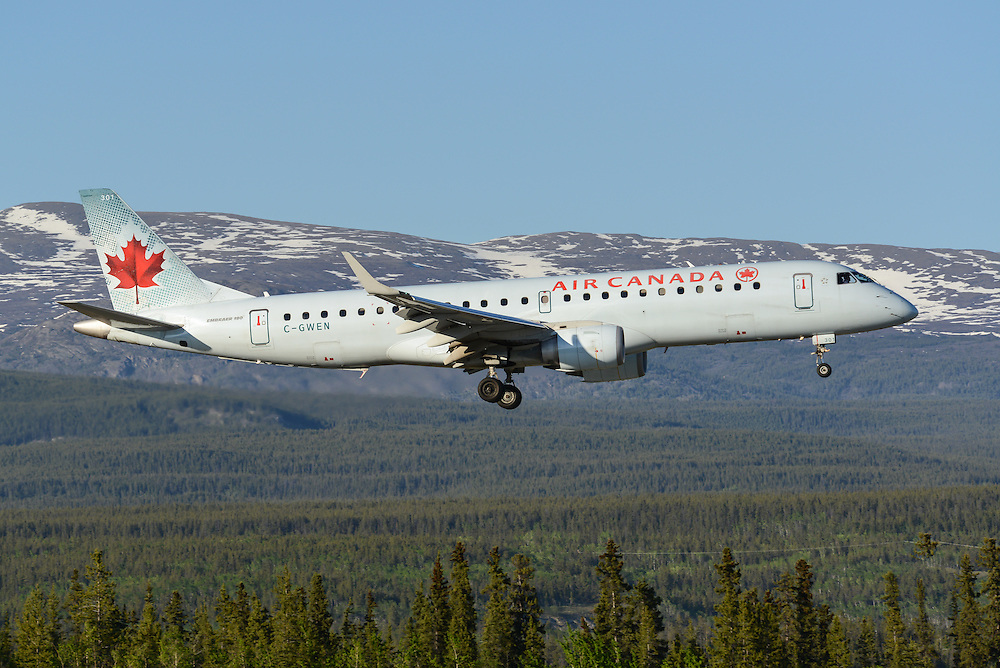 GWEN makes an evening landing in Whitehorse, Yukon
