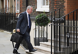 © Licensed to London News Pictures. 10/07/2019. London, UK. Attorney General GEOFFREY COX is seen arriving at an address in Westminster, London used by Tory leadership candidate Boris Johnson. The frontrunner to be the next PM has been criticised for not backing the outgoing British Ambassador to the USA Sir Kim Darroch. Photo credit: Ben Cawthra/LNP