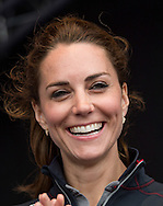 Catherine, Duchess of Cambridge and Prince William, Duke of Cambridge attend the trophy presentation of the America's Cup World Series in Portsmouth