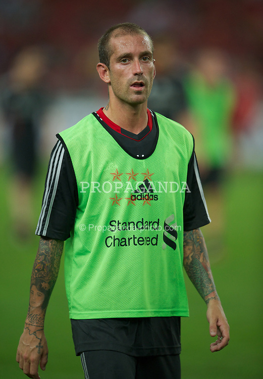 KUALA LUMPUR, MALAYSIA - Thursday, July 14, 2011: Liverpool's Raul Meireles during a training session at the National Stadium Bukit Jalil in Kuala Lumpur ahead of their second pre-season friendly match on day four of the club's Asia Tour. (Photo by David Rawcliffe/Propaganda)