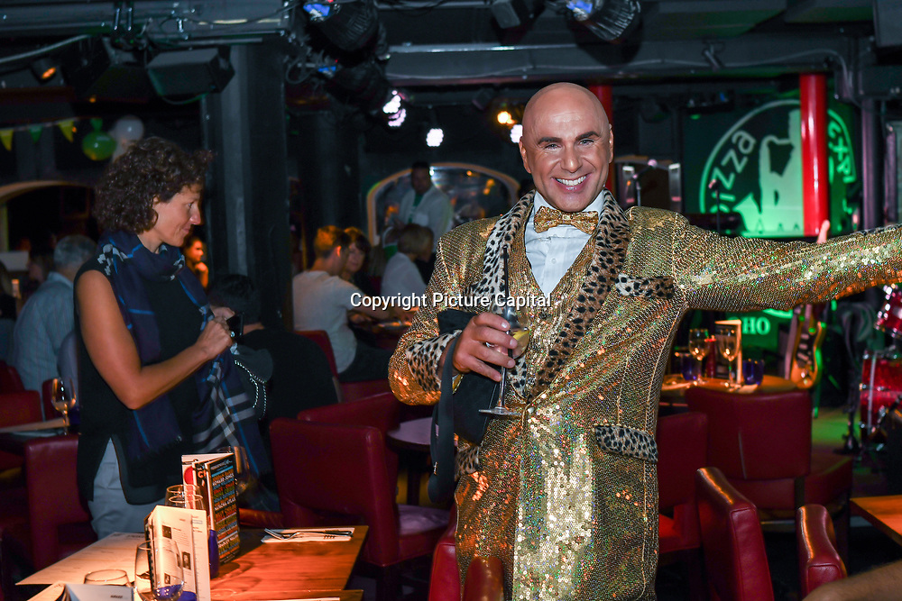 Simon Goss host the Macmillan - charity gala summer party at Pizza Express Dean Street on 8 August 2018, London, UK.