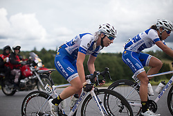 Nina Kessler (NED) of Lensworld Zannata Cycling Team digs deep on the second KOM climb of the 97,1 km second stage of the 2016 Ladies' Tour of Norway women's road cycling race on August 13, 2016 between Mysen and Sarpsborg, Norway. (Photo by Balint Hamvas/Velofocus)