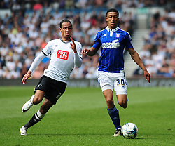 MYLES KENLOCK IPSWICH TOWN BATTLES WITH DERBY TOM INCE Derby County v Ipswich Town Championship, IPro Stadium, Saturday 7th May 2016. Photo:Mick Stacey