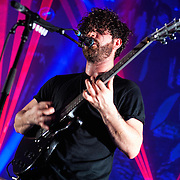Oxford rock band Foals play to a sold out O2 Academy in Glasgow (PLEASE DO NOT REMOVE THIS CAPTION)<br /> This image is intended for portfolio use only.. Any commercial or promotional use requires additional clearance. <br /> &copy; Copyright 2014 All rights protected.<br /> first use only<br /> contact details<br /> Stuart Westwood <br /> 07896488673<br /> stuartwestwood44@hotmail.com<br /> no internet usage without prior consent. <br /> Stuart Westwood reserves the right to pursue unauthorised use of this image . If you violate my intellectual property you may be liable for damages, loss of income, and profits you derive from the use of this image.