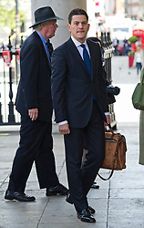 © Licensed to London News Pictures. 16/05/2012. London, UK. David Miliband arriving at St Martin in the Fields church, London for a memorial service held for American Sunday Times journalist Marie Colvin, who died covering the siege of Homs in Syria.  Photo credit : Ben Cawthra/LNP