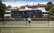 Royal South Yarra Lawn Tennis Club existiert seit 1884.<br /> <br /> tennis - Royal South Yarra Lawn Tennis Club -  -  Royal South Yarra Lawn Tennis Club - Melbourne-Toorak - VIC - Australia  - 26 January 2015. <br /> &copy; Juergen Hasenkopf