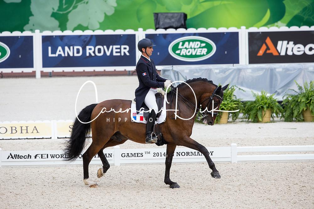 Arnaud Serre, (FRA), Robinson De Lafont De Massa - Grand Prix Team Competition Dressage - Alltech FEI World Equestrian Games&trade; 2014 - Normandy, France.<br /> &copy; Hippo Foto Team - Leanjo de Koster<br /> 25/06/14