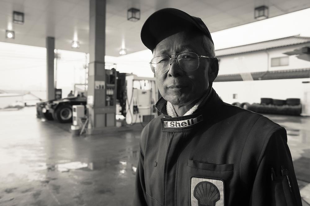 Hiroko Yuki Owner operator Shell gas Station in Naraha   Naraha Japan