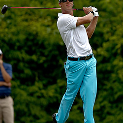 Apr 29, 2012; Avondale, LA, USA; Graham DeLaet hits his tee shot on the second hole during the final round of the Zurich Classic of New Orleans at TPC Louisiana. Mandatory Credit: Derick E. Hingle-US PRESSWIRE