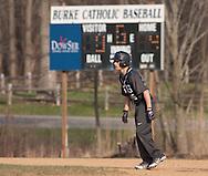 Goshen, New York - John S. Burke Catholic plays Fallsburg in a a varsity boys' baseball game on April 21, 2014.
