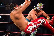October 27, 2016: Mexican Grand Prix. Lucha libre wrestlers