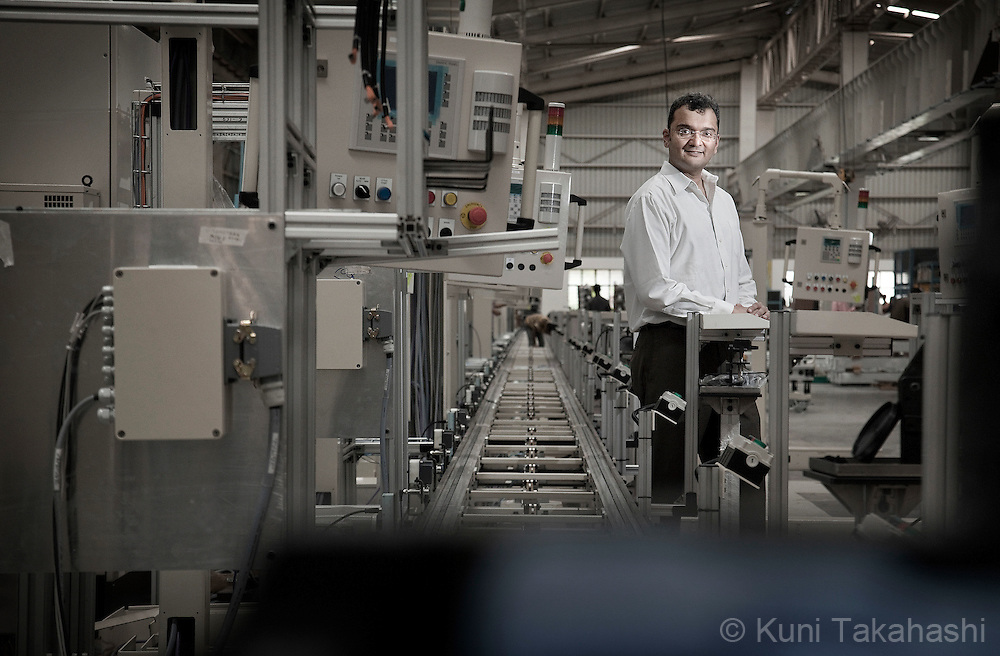 Ranjit Date, President of Pari Precision Automation and Robotics India, poses at the company plant in Pune, India on July 18, 2011. The company manufactures automated assembly lines for Ford and other automobile companies. <br /> (Photo by Kuni Takahashi)