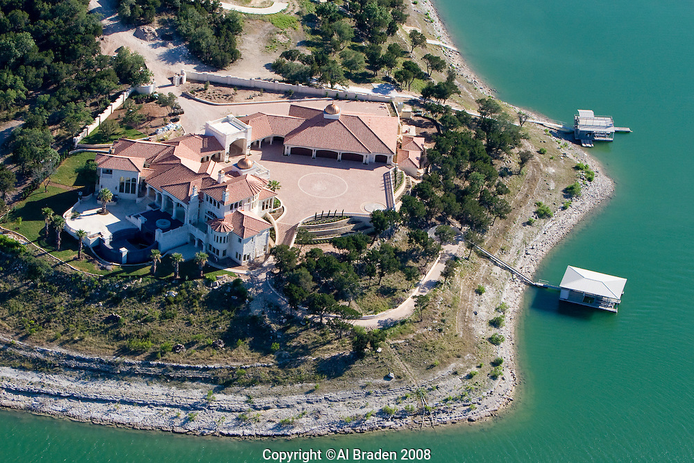 Luxury homes on Lake Travis, near Austin, Texas.