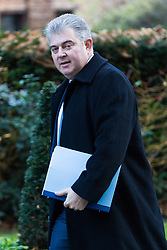 London, December 19 2017. Home Office Minister Brandon Lewis arrives at 10 Downing Street for the last cabinet meeting before the Christmas break. © Paul Davey