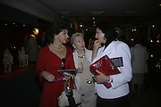 Mrs. Anne Hicks, Barbara Davies and Mirjana Jojic-Oberoi, Private Preview of the Grosvenor House Art and Antiques Fair. 13 June 2007.  -DO NOT ARCHIVE-© Copyright Photograph by Dafydd Jones. 248 Clapham Rd. London SW9 0PZ. Tel 0207 820 0771. www.dafjones.com.