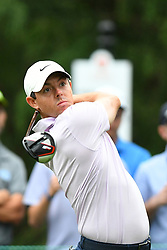 May 3, 2019 - Charlotte, NC, U.S. - CHARLOTTE, NC - MAY 03: 3Rory Mcllroy plays his shot from the tenth tee in round two of the Wells Fargo Championship on May 03, 2019 at Quail Hollow Club in Charlotte,NC. (Photo by Dannie Walls/Icon Sportswire) (Credit Image: © Dannie Walls/Icon SMI via ZUMA Press)